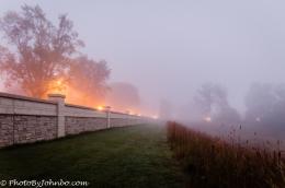 A foggy morning in Fargo.