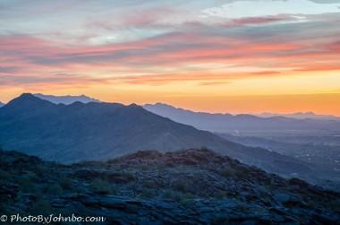 Phoenix at dusk.