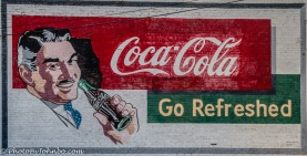 Replica of a Coca Cola advert.