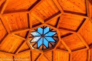 Geometric ceiling and skylight