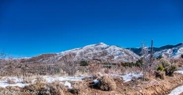 Looking toward the peak of the mountain