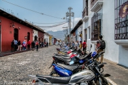 Motorcycles are popular here