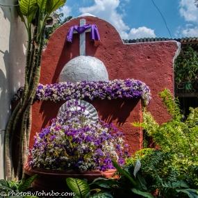 Lenten display in the Jade Museum courtyard.
