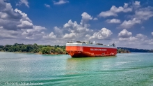 Car hauler in Lake Gatun.