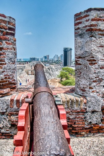 Cannon emplacement.