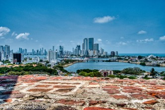 View of downtown Cartagena and Bocagrande.