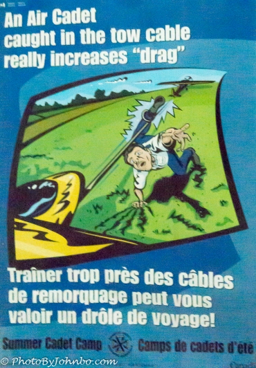 Glider safety poster.