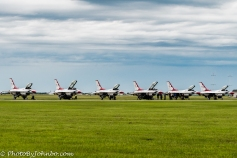 The flight line. One aircraft was down for maintenance.