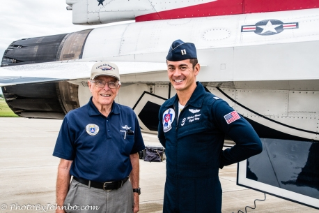 Capt Brewer and ND Wing IG Col Walt Vollmers.