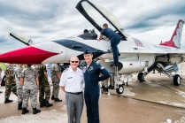Capt Brewer and ND Wing Commander John Steiner.