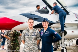 Captain Brewer and ND Wing Assistant Director of Cadet Programs Major Justin McDowell.