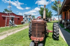 One of the many tractors on display.