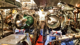 USS Torsk torpedo room