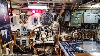 USS Torsk helm