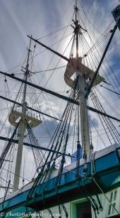 Masts of the USS Constellation