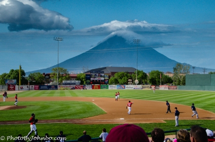 Near the Redhawks stadium in Fargo, an active volcano is about ready to erupt!