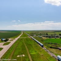 Lindsay Montana - 20 Miles of Train Cars
